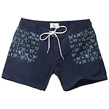 Buy Fat Face Geo Boardie Shorts, Navy Online at johnlewis.com