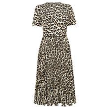 Buy Oasis Animal Pleat Midi Dress, Multi Online at johnlewis.com