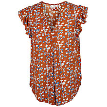 Buy Fat Face Jodie Painted Bloom Blouse, Ginger Online at johnlewis.com