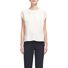 Buy Whistles Gia Panelled Frill Top, Ivory Online at johnlewis.com