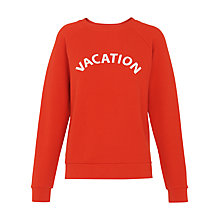 Buy Whistles Vacation Logo Top, Red Online at johnlewis.com
