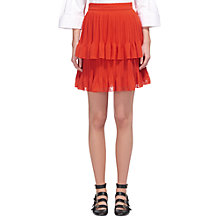 Buy Whistles Ellie Dobbie Tiered Skirt, Red Online at johnlewis.com