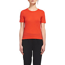 Buy Whistles Rosa Double Trim T-Shirt, Red Online at johnlewis.com