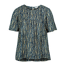 Buy Fat Face Luna Antique Woodblock Blouse, Vintage Blue Online at johnlewis.com