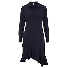 Buy Finery Beachcroft Frill Hem Shirt Dress, Navy Online at johnlewis.com
