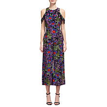Buy Whistles Mia Floris Jumpsuit, Purple/Multi Online at johnlewis.com