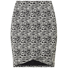 Buy Miss Selfridge Cross Front Mini Skirt, Black Online at johnlewis.com