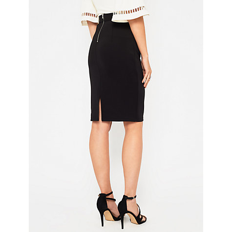 buy miss selfridge scuba pencil skirt black lewis