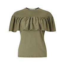 Buy Miss Selfridge Petite Ruffle Trim T-Shirt Online at johnlewis.com