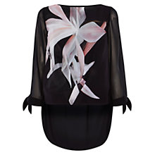 Buy Coast Rosario Print Top, Black Online at johnlewis.com