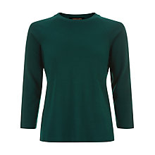 Buy Jaeger Seam Detail Top, Green Online at johnlewis.com