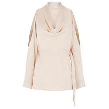 Buy Warehouse Cold Shoulder Top, Light Pink Online at johnlewis.com