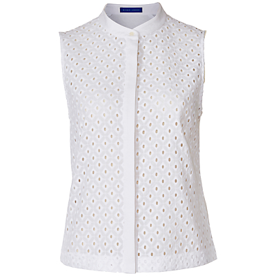 Winser London Broderie Anglaise Top, White