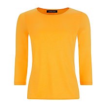 Buy Jaeger Essential Jersey Top, Yellow Online at johnlewis.com