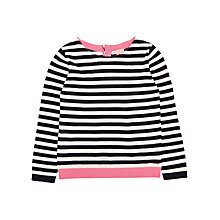 Buy Jigsaw Girls' Colour Pop Striped Jumper, Navy/White Online at johnlewis.com