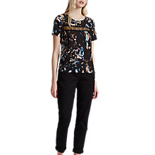 Buy French Connection Cornucopia Polly Lace Detail Top, Black/Multi Online at johnlewis.com