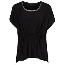 Buy French Connection Classic Crepe Drawstring Waist Top Online at johnlewis.com