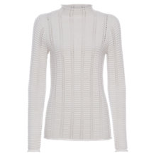 Buy French Connection Mozart Ladder Knit High Neck Jumper Online at johnlewis.com