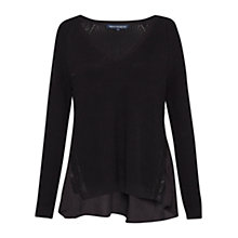 Buy French Connection Mozart Hybrid V Neck Jumper Online at johnlewis.com