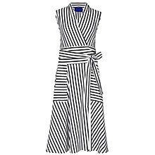 Buy Winser London Striped Wrap Dress, Ivory/Midnight Navy Online at johnlewis.com