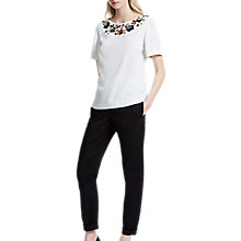 Buy French Connection Ernest Floral Top, Summer White Online at johnlewis.com