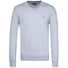 Buy Tommy Hilfiger Cotton Silk V-Neck Jumper Online at johnlewis.com