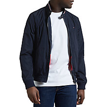 Buy Tommy Hilfiger Regular Fit Bomber Jacket, Midnight Online at johnlewis.com