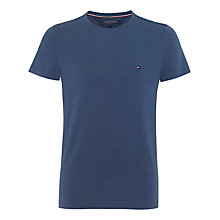 Buy Tommy Hilfiger New Stretch Crew Neck T-Shirt, Vintage Indigo Online at johnlewis.com