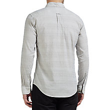 Buy Gant Rugger Dobby Yarn-Dyed Stripe Slim Shirt, Cream Online at johnlewis.com