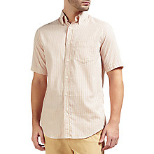 Buy Gant Rugger Micro Stripe Short Sleeve Shirt, Cream Online at johnlewis.com