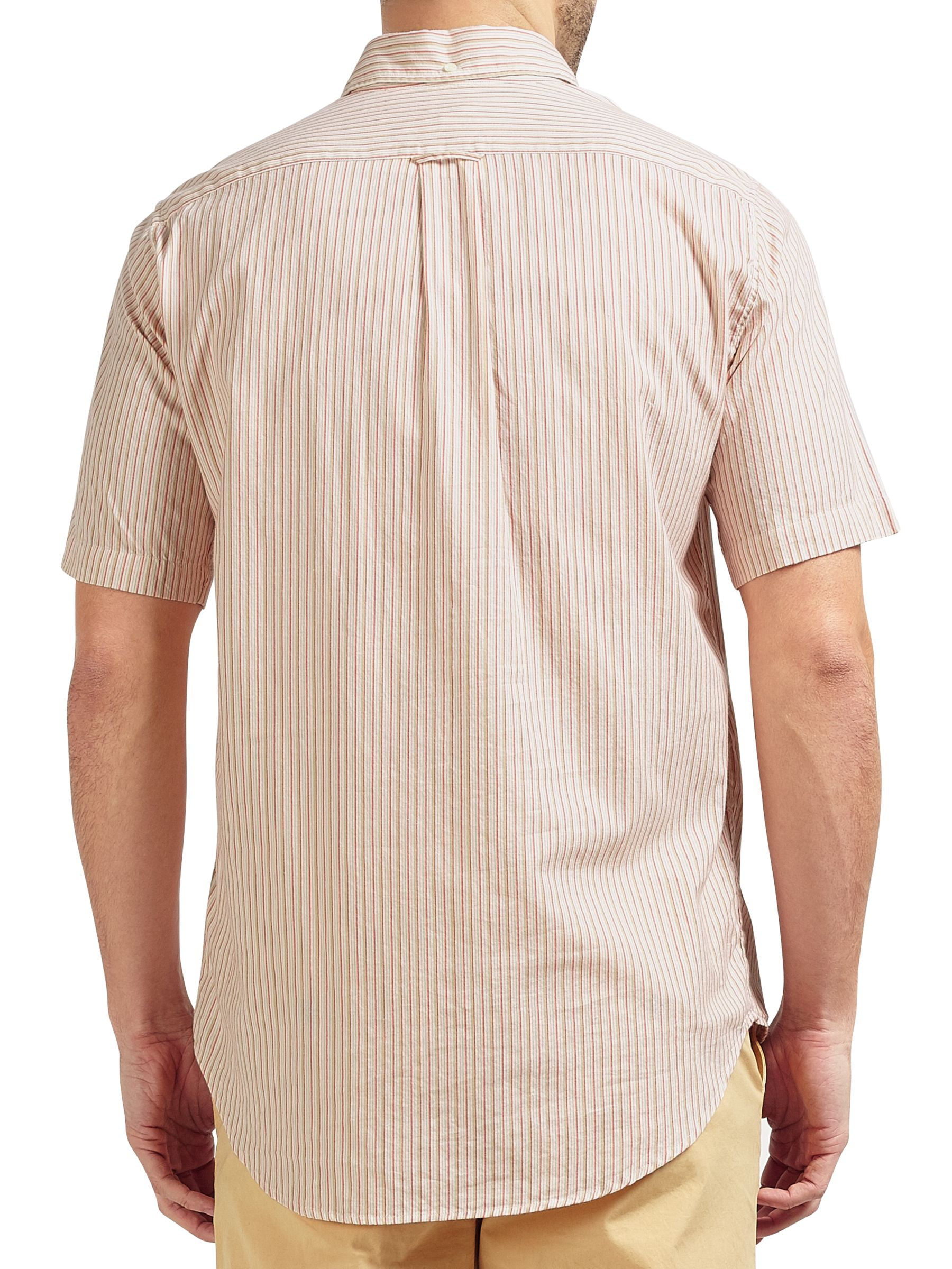 Gant Rugger Gant Rugger Micro Stripe Short Sleeve Shirt, Cream