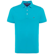 Buy Tommy Hilfiger Luxury Pique Short Sleeve Polo Top, Blue Atoll Online at johnlewis.com