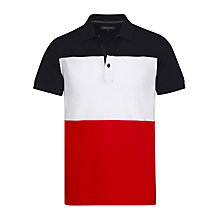 Buy Tommy Hilfiger Cotton Jersey Regular Fit Polo Shirt, Navy Online at johnlewis.com