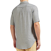 Buy Gant Rugger Micro Stripe Short Sleeve Shirt, Evening Blue Online at johnlewis.com