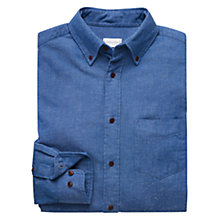 Buy Gant Rugger Indigo Slub Twill Shirt, Light Blue Online at johnlewis.com