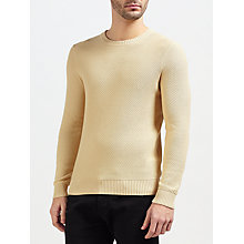 Buy Gant Rugger Solid Texture Crew Neck Jumper Online at johnlewis.com