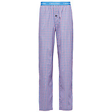 Buy Calvin Klein Corson Songbird Check Lounge Pants, Blue/Purple Online at johnlewis.com