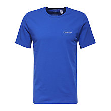 Buy Calvin Klein Logo Lounge T-Shirt, Prussian Blue Online at johnlewis.com