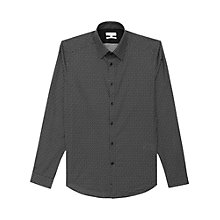 Buy Reiss Bruin Printed Slim Fit Shirt, Black Online at johnlewis.com