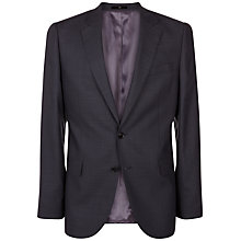 Buy Jaeger Wool Pick and Pick Regular Suit Jacket, Charcoal Online at johnlewis.com