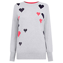 Buy Oasis Heart Cosy Knit, Mid Grey Online at johnlewis.com
