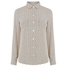 Buy Oasis Geometric Heart Shirt, Multi Online at johnlewis.com