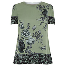 Buy Oasis Chintz Patched T-Shirt, Multi/Green Online at johnlewis.com