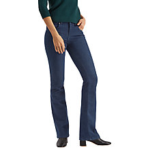 Buy Jaeger High Rise Kick Flare Jeans, Indigo Online at johnlewis.com