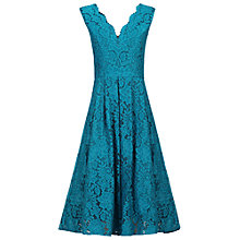 Buy Jolie Moi Scalloped V-Neck Lace Prom Dress, Teal Online at johnlewis.com