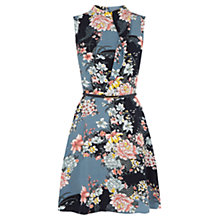 Buy Oasis Lotus High Neck Skater Dress, Multi Online at johnlewis.com