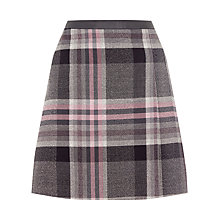 Buy Oasis Soft Check Poppy Kilt Skirt, Multi Online at johnlewis.com