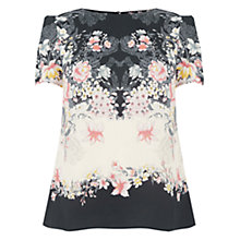 Buy Oasis Lotus Placement Formal T-Shirt, Multi Online at johnlewis.com