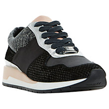 Buy Dune Elinor Lace Up Trainers, Black Online at johnlewis.com