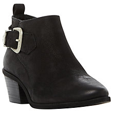 Buy Steve Madden Bradi Block Heeled Ankle Boots, Black Online at johnlewis.com